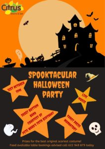Spooktacular Halloween Party @ Bar Citrus, Orba | Spain