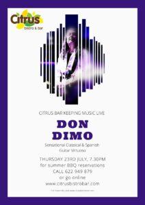Don Dimo at Citrus @ Bar Citrus, Orba | Spain