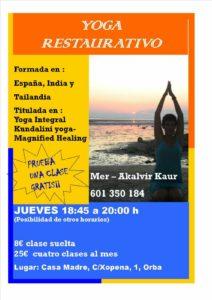 Restorative Yoga @ Casa Madre, Orba | Orba | Comunidad Valenciana | Spain