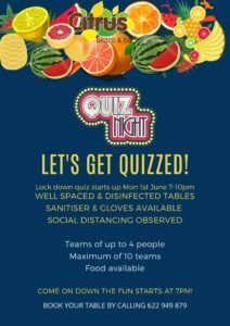 Quiz night at Citrus Bistro Bar @ Bar Citrus, Orba | Orba | Comunidad Valenciana | Spain