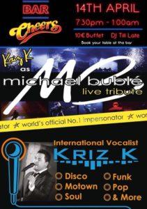Kris K Michael Buble Tribute Act @ Bar Cheers, Orba   Orba   Spain