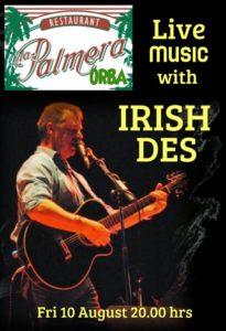 Irish Des @ La Palmera Pizzeria, Orba