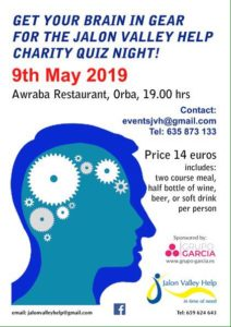 Quiz night in aid of JVH - fully booked @ Awraba Restaurant, Orba | Orba | Comunidad Valenciana | Spain