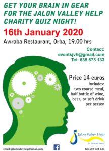 Quiz Night in aid of JVH @ Awraba Restaurant, Orba | Orba | Comunidad Valenciana | Spain