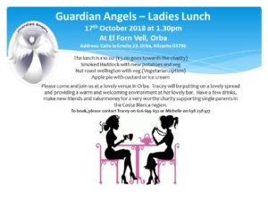 Ladies Lunch supporting Guardian Angels @ Forn Vell, Orbeta