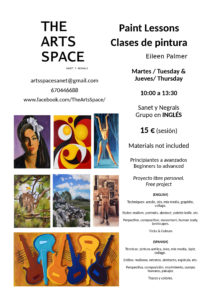 English Paint Lessons @ The Arts Space, Sanet y Negrals