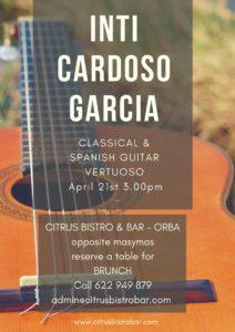 Inti Cardosa Garcia @ Citrus Bistro Bar, Orba