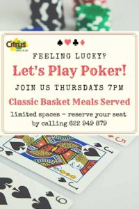 Poker at Bar Citrus @ Citrus Bistro Bar, Orba
