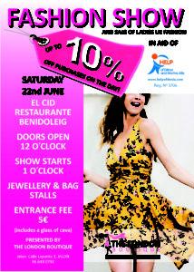 Fashion Show in aid of Help of Denia @ El Cid Bar & Restaurant, Benidoleig