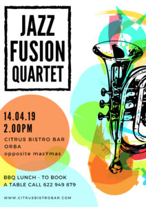 Jazz Fusion - CANCELLED @ Citrus Bistro Bar, Orba