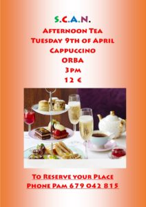 Afternoon Tea in aid of SCAN @ Cappuccino's, Orba