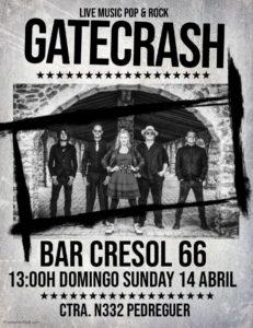 Gatecrash @ Cresol 66, Pedreguer | Pedreguer | Spain