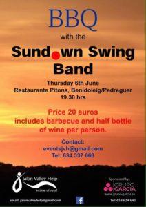 BBQ with Sundown Swing Band @ Pitons Restaurant  | Comunidad Valenciana | Spain