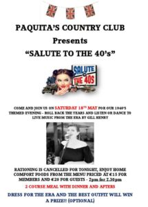 Salute to the '40s - CANCELLED @ El Cid Bar & Restaurant, Benidoleig