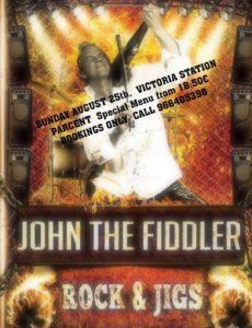 John the Fiddler at Restaurant Victoria @ Restaurant Victoria, Parcent | Parcent | Comunidad Valenciana | Spain