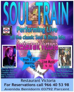 Soul Train live at Restaurant Victoria @ Restaurant Victoria, Parcent | Parcent | Comunidad Valenciana | Spain