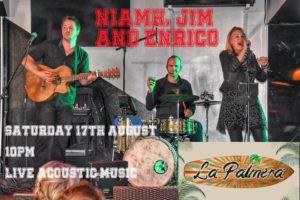 Niamh, Jim and Enrico at La Palmera @ La Palmera Lounge | Orba | Comunidad Valenciana | Spain