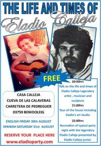 Life and Times of Eladio Calleja @ Casa Calleja, Cueva de las Calevares, Benidoleig