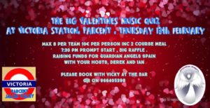 Valentines Music Quiz - sold out @ Bar Victoria Station, Parcent