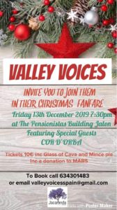Christmas Fanfare with Valley Voices @ Pensionistas' Building, Jalon