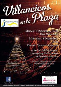 The Entertainers + local schoolchildren sing Xmas @ Placa Mejor, Jalon