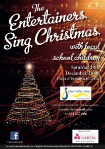 The Entertainers + local schoolchildren sing Xmas @ Placa de Espana, Orba