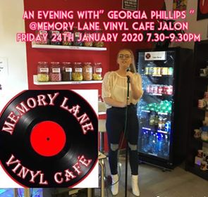 A Night With Georgia Phillips @ Memory Lane Vinyl Cafe, Jalon