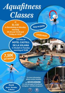 Aqua Fitness @ El Cid Bar & Restaurant, Benidoleig