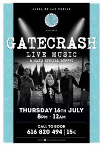 Gatecrash at the Pool Bar @ The Pool Bar, Aldea de las Cuevas, Benidoleig