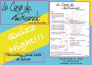 Fun pub quiz in Sagra @ La Casa de Tio Franck, Sagra | Sagra | Comunidad Valenciana | Spain