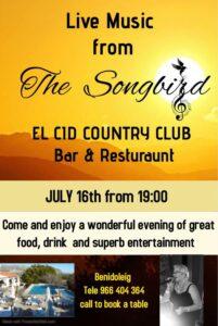The Songbird at El Cid @ El Cid Country Club, Benidoleig