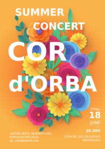 Cor d'Orba Summer Concert @ Cueva de las Calaveras, Benidoleig