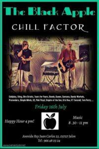 Chill Factor at Black Apple @ The Black Apple, Av. Rey Juan Carlos 23, Jalon
